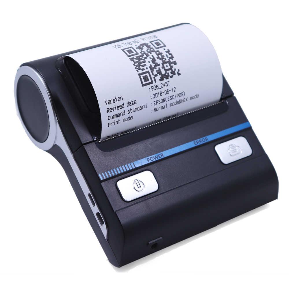 Marco MHT-P8001 80 milímetros Bolso Mais Barato Bluetooth Móvel impressora térmica POS Impressora Compatível com Android/iOS/Windows