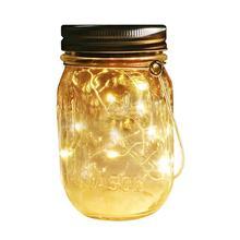 HobbyLane LED Солнечный Медный Провод Мейсон Jar Light String с Крышкой для Украшения На Открытом  Лучший!