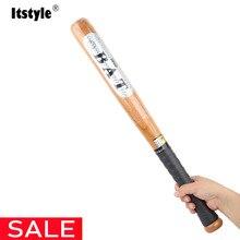 Itstyle, хорошее качество, твердая деревянная бейсбольная бита для бит, деревянные летучие мыши, 53 см, 63 см, 73 см, 83 см, Спорт на открытом воздухе, фитнес