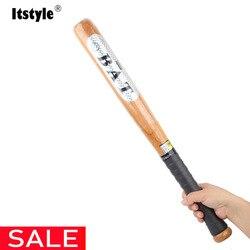 Itstyle, хорошее качество, твердая деревянная бейсбольная бита для битов, твердых летучих мышей 53 см 63 см 73 см 83 см, для занятий спортом на открыт...