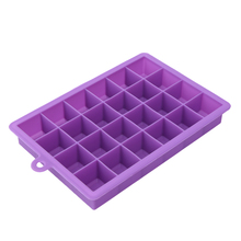 24 Grid DIY Creative Big Ice Cube Mold Square Shape Silicone Tray Fruit Maker Bar Kitchen Accessories 5 Colors D30