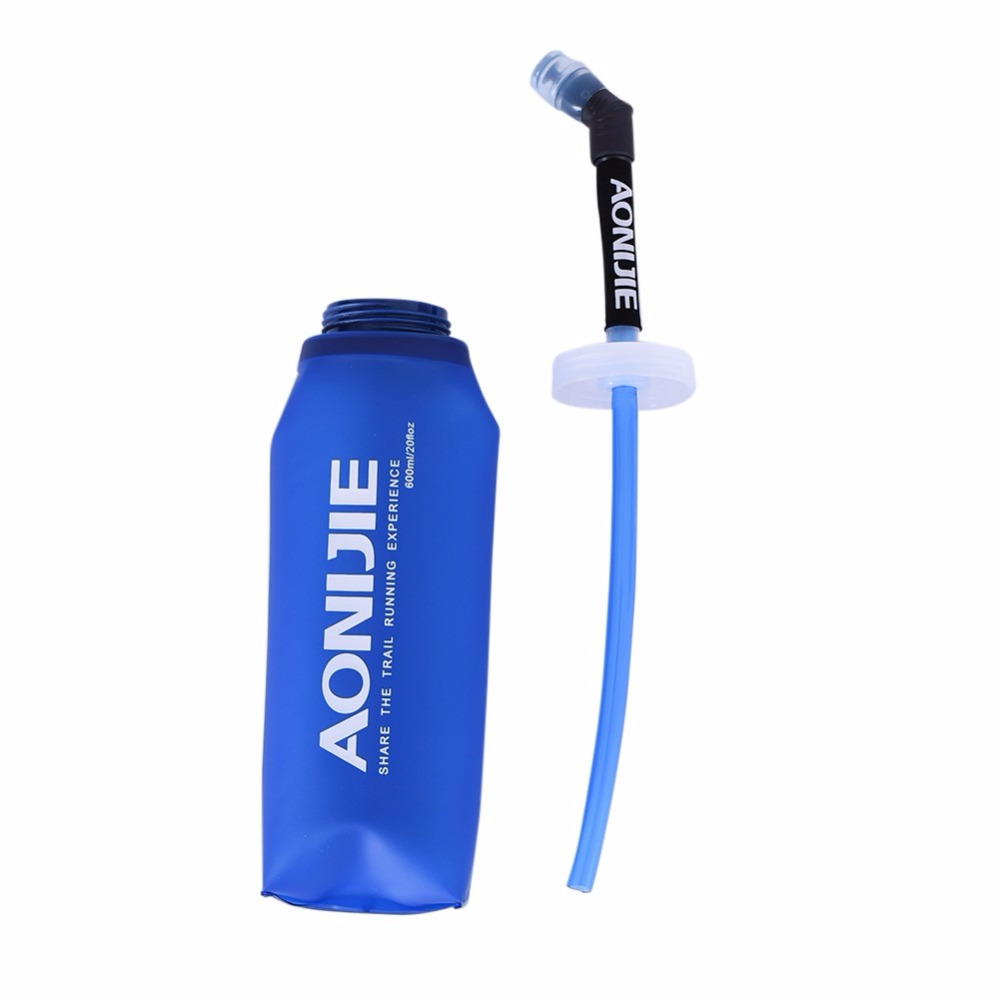 350ML/600ml Sport Bottle Outdoor Foldable TPU Soft Long Straw Outdoor Travel Sport Camping Hiking Walking Running New