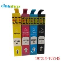 T0731 - T0734 Ink Cartridge For Epson Stylus CX7300 CX8300 C79 C110 C90 CX3900 CX3905 CX4900 CX4905 CX5500 CX5600 CX5900 CX7310