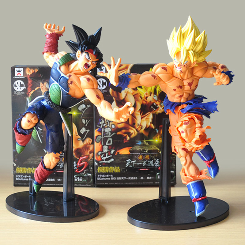 25CM Banpresto Scultures BIG Dragon Ball Z Resurrection Of F Dragonball Z Super Saiyan Son Goku Bardock Figure Free shipping orbit helicopter вертолет управляемый силой мысли