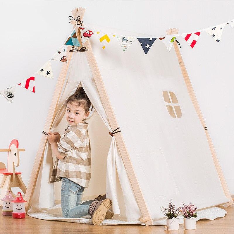 Корейская версия небольшой свежий хлопок палатки детские игрушки ткань палатка семья подарок на день рождения Детская палатка игровой дом ...