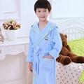Outono Inverno Crianças Toweling Vestes Roupões de Banho Do Bebê Das Meninas Dos Meninos Pijamas Crianças Terno de Banho Roupão De Banho Sleepwear Pijama Pijama