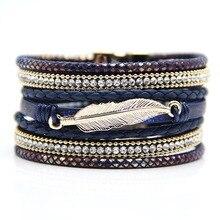 Здесь можно купить  2015 Fashion Leather Megnetic Bracelets With Copper Pipes Tassels French Bracelet for Christmas Gift