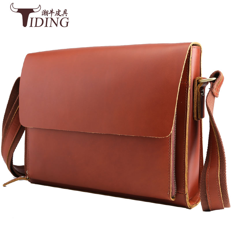 Fashion Genuine Leather Brand Design Men Messenger Bag Cowhide High Quality Shoulder Bags Travel Men's Cross Body Travel Bag 2017 hot sale fashion men bags men famous brand design leather messenger bag high quality man brand shoulder bag wholesale price
