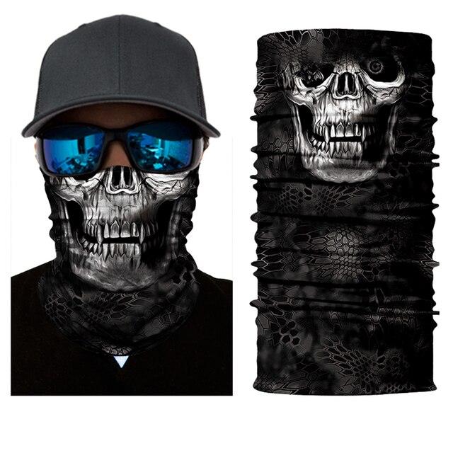 BJMOTO 2019 Newest Motorcycle Skull Bandana Bike Fishing Riding Mask Men's Sun Balaclavas Face shield Masks 4