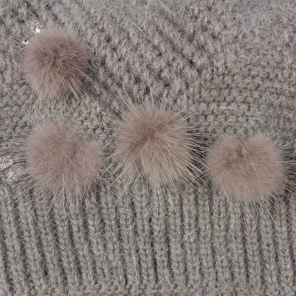 Charles Perra Mujer Sombreros Invierno Espesar Doble capa Sombrero de - Accesorios para la ropa - foto 6