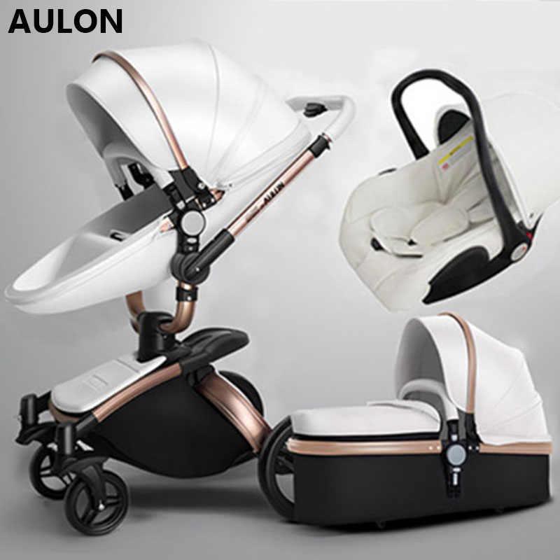 AULON Oyun ยาวรถเข็นเด็กทารกเปลือก bi-directional-ดูโช๊คอัพเด็กสามารถนั่งในรถเข็น 3