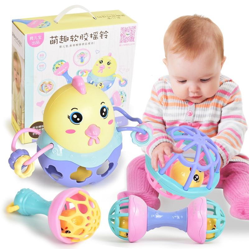 4 Stks 0-12 Maanden Baby Speelgoed Rammelaars Oyuncak Mobiles Rammelaar Bed Kinderen Speelgoed Educatief Speelgoed Bell Pasgeborenen Zitzak Voor Meisjes