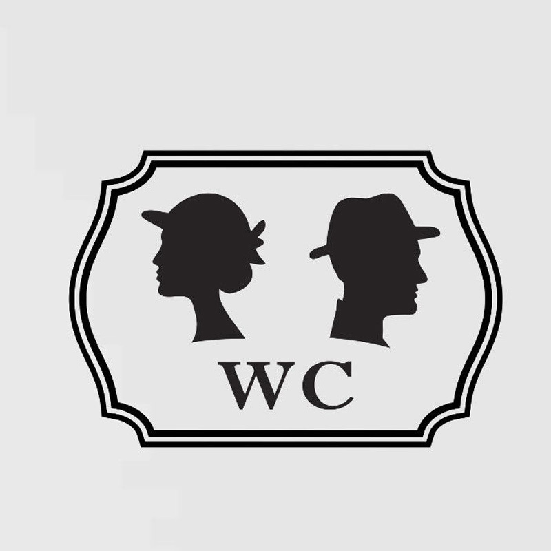 Personality Of The Wc Men And Women Stickers Interesting Vinyl