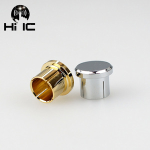 Image 1 - 2pcs Protective Cover Gilded Rhodium Plated Covers Dust Cap Shielded Anti oxidation for RCA  Socket Connector