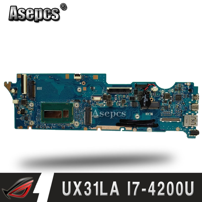 UX31LA Laptop motherboard for ASUS UX31LA UX31L UX31 Test original mainboard 8G RAM I7-4500UUX31LA Laptop motherboard for ASUS UX31LA UX31L UX31 Test original mainboard 8G RAM I7-4500U