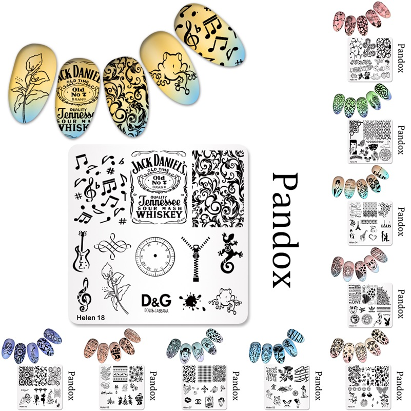 Image 2 - 2019 New Series Nail Stamping Plates DIY Image Konad Nail Art Manicure Templates Stencils Salon Beauty Polish Tools-in Nail Art Templates from Beauty & Health