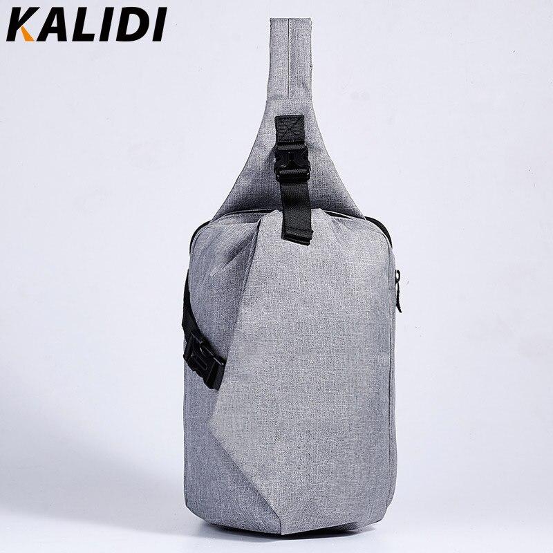 KALIDI Unisex Chest Back Pack Waterproof Men's Pack Single Shoulder Messenger Sl
