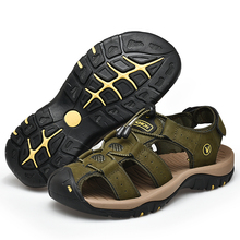 ZUNYU 2019 New Male Shoes Genuine Leather Men Sandals Summer Men Shoes Beach Sandals Man Fashion Outdoor Casual Sneakers Size 48