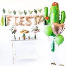 Kuchang-ballon en or Rose 16 pouces, 11 pièces, en forme de lettres, en forme de lettre, en ALOHA, pour bannière de Cactus, décoration de fête, été, anniversaire et mariage