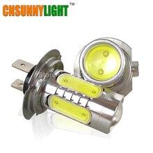 CNSUNNYLIGHT H7 led de Alta Potência 7.5 W 5 LEDs Pure White Fog Driving Car Light Lâmpada Traseira Da Cauda Da Lâmpada 12 V Disponível