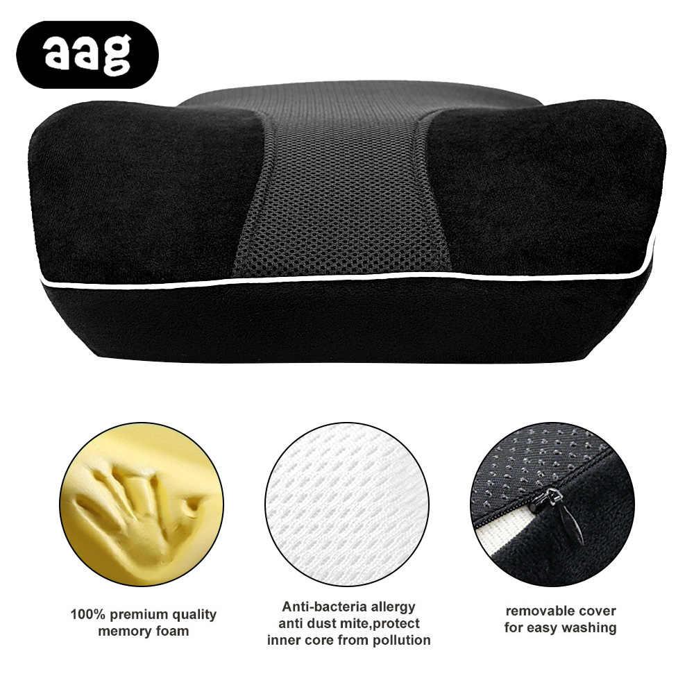 AAG Mobil Lumbalis Bantal Dukungan Memori Busa Mobil Kursi Sandaran Pinggang Dukungan Pemijatan Bantal Kursi Rumah Pillowcushion Hitam