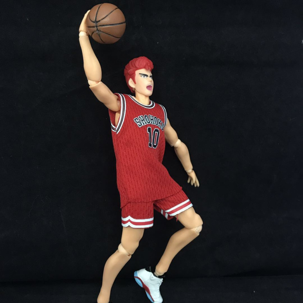 17cm SLAM DUNK Hanamichi Sakuragi joint Movable Anime Action Figure PVC New Collection figures toys Collection for friend gift17cm SLAM DUNK Hanamichi Sakuragi joint Movable Anime Action Figure PVC New Collection figures toys Collection for friend gift