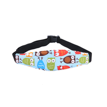 Baby Adjustable Head Fixing Belt Fastening Strap Infant Car Safety Sea