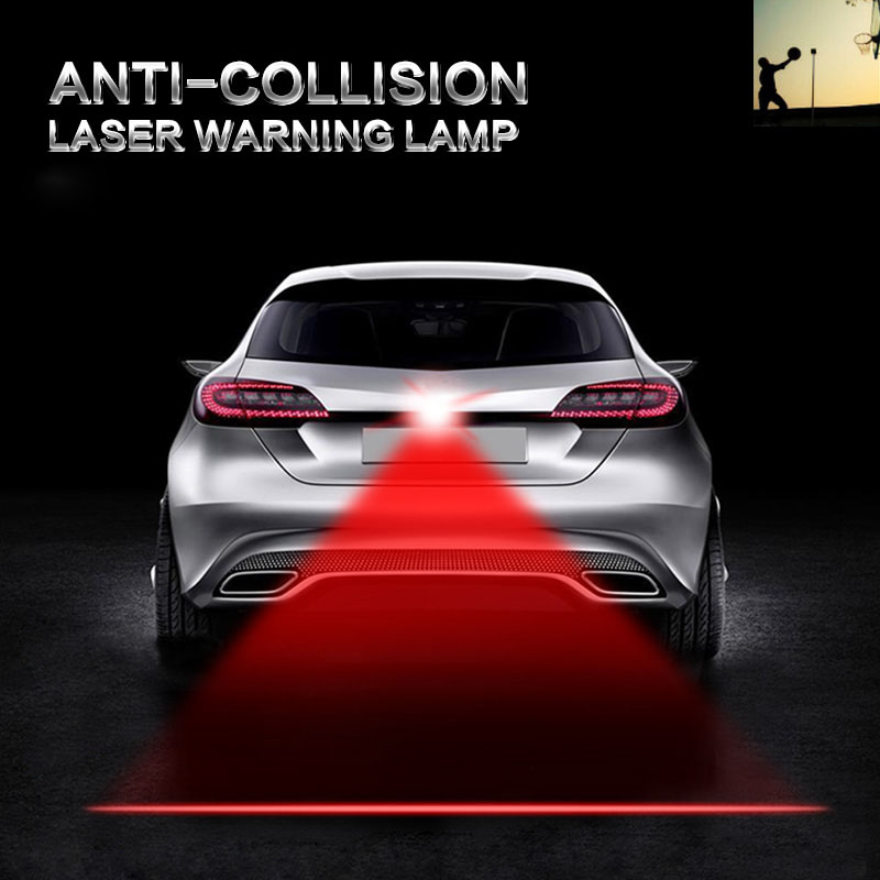 LED anti collision laser warning lamp for Peugeot Volkswagen VW Toyota Honda ford chevrolet cruze opel kia rio drl car-styling
