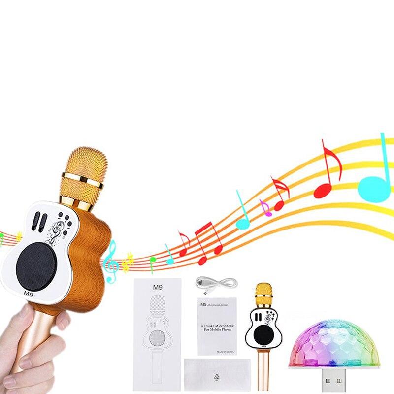 Guitare Forme Sans Fil Bluetooth Microphone Karaoké De Poche Mic Chant Portable Studio D'enregistrement Microphone Audio Accessoires