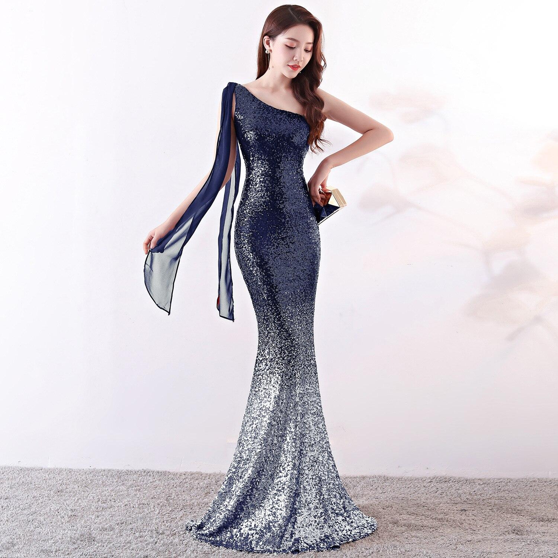 Longue robe de soirée queue de poisson or Bling burgndy sequin dégradé couleur sirène trompette bal de promo robes de soirée robe de soirée Vestido