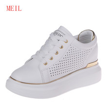 Summer Designer Ladies Platform Shoes Woman Wedges White Sneakers Women Flats Tenis Feminino Casual Female Shoes Zapatos Mujer ulzzang harajuku trainers women casual shoes air mesh grils wedges shoes woman tenis feminino zapatos mujer ladies footwear