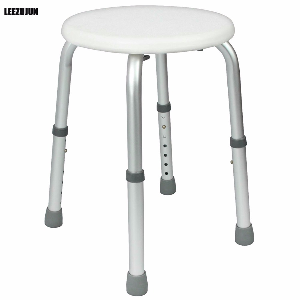 Shower Stool - Adjustable Bath Tub Seat for Bathroom Safety & Shaving - Heavy Duty & Lightweight for Elderly& Disabled bathroom folding seat shower stool shower wall chair stool old people anti skid toilet stool bath wall chair