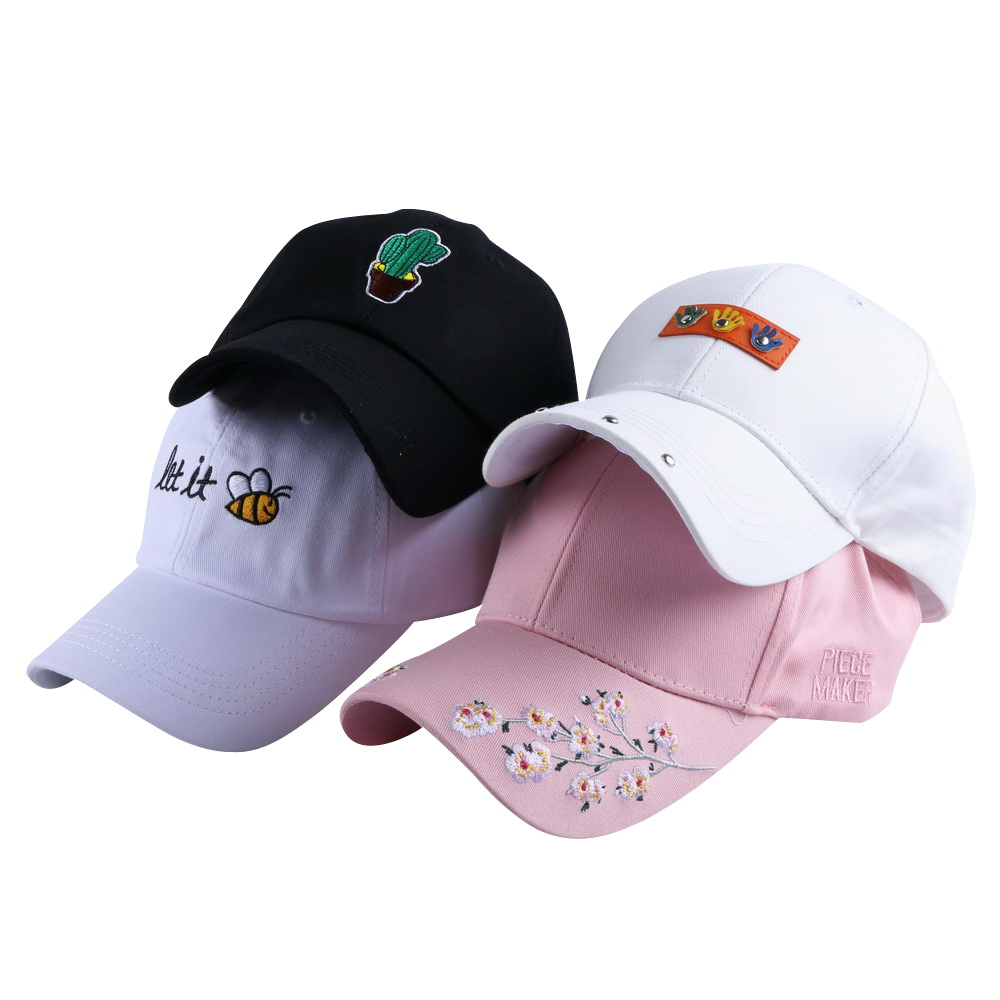 women girl luxury cap floral beauty hat embroidery custom design flower colored baseball caps men boy novelty snapback casquette newly design i came to break hearts embroidery letter boy hiphop hat adjustable baseball cap 160513
