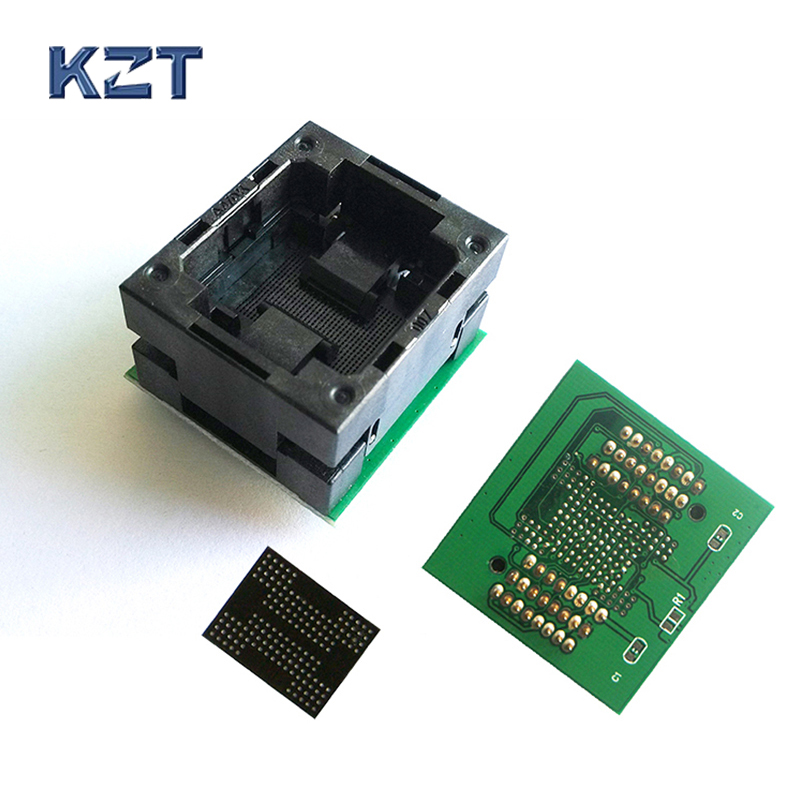 все цены на BGA132 BGA152 to DIP48 Adapter IC Test Socket BGA88 BGA136 Burn in Socket Programmer Socket Open Top Structure Test Seat онлайн