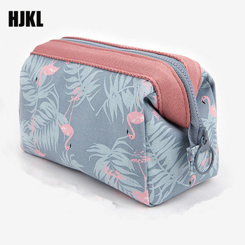 Organizer Multifunction travel Toiletry Flamingo Hot quality Cosmetic Bag Women MakeUp  Waterproof Portable Makeup