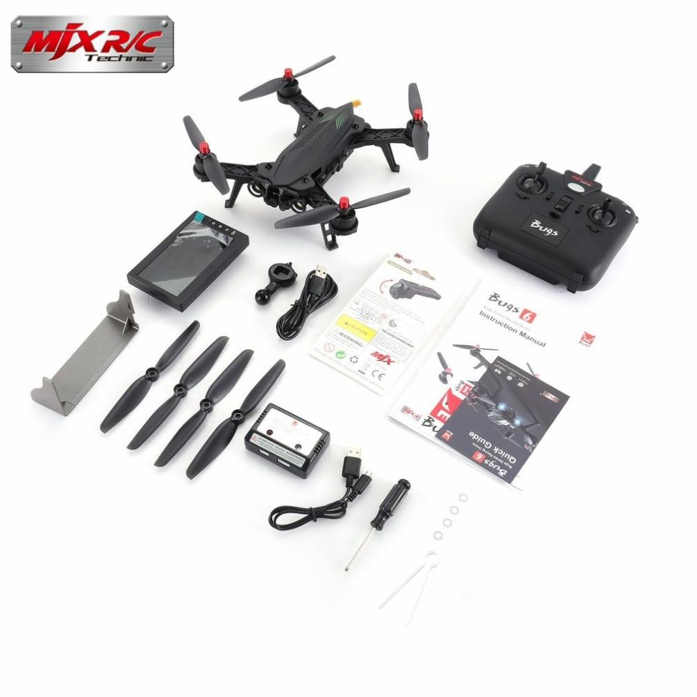 все цены на MJX Bugs 6 B6FD 2.4GHz 4CH 6 Axis Gyro RTF RC Drone With HD 720P 5.8G FPV Camera And 4.3