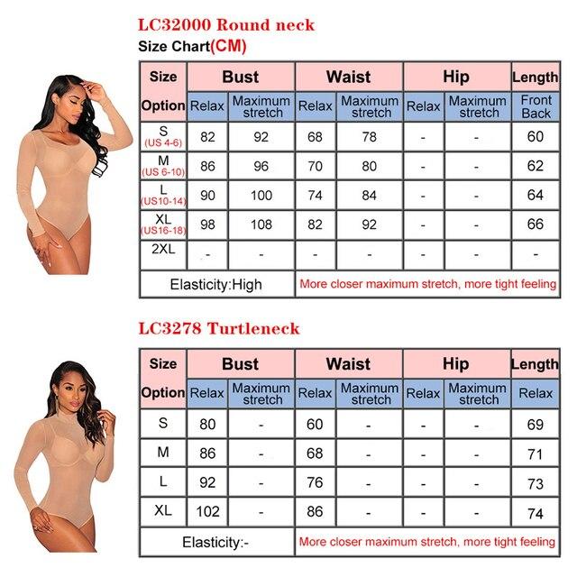 Liva Girl 2019 Nude Mesh Bodysuit Rompers Bodycon Jumpsuit Turtleneck Skinny Bodysuits Transparent New Women Sexy Body Clothing 5