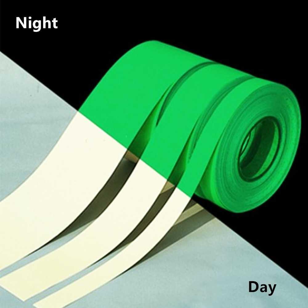 1 ม้วนเทปส่องสว่างกาวสัตว์เลี้ยงเทปเตือน Night Vision Glow In Dark Night Vision เรืองแสงฉุกเฉินสติกเกอร์