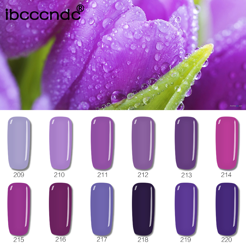 10ml Gel Polish Pink Purple Colors Uv Nail Polish Gel