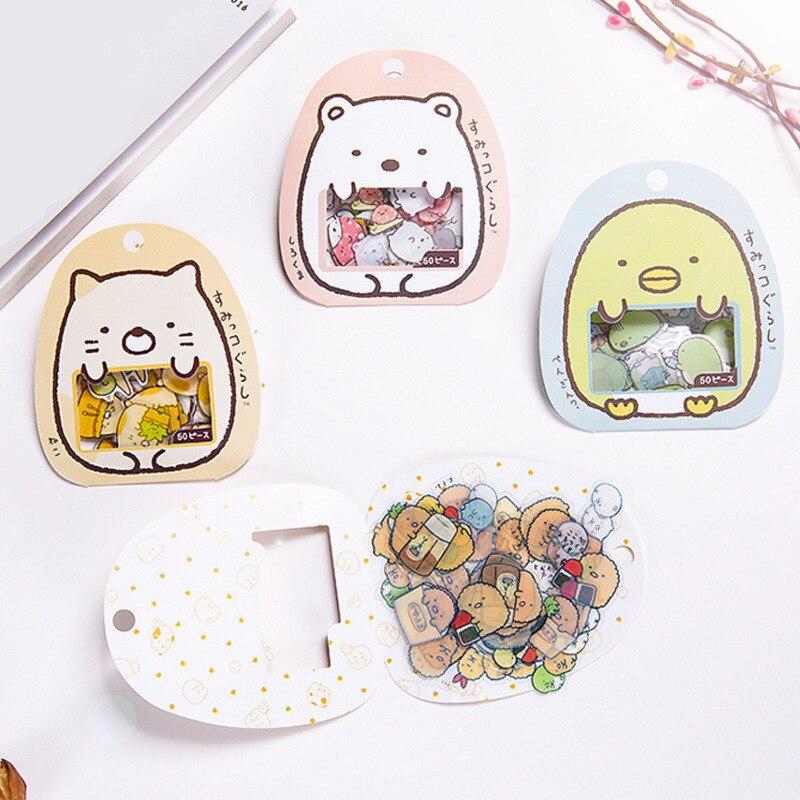 Coloffice For Kids Korean Stationery Stickers Small Creatures Cute Handbook Decoration Album Cartoon Pocket Children'S Stickers