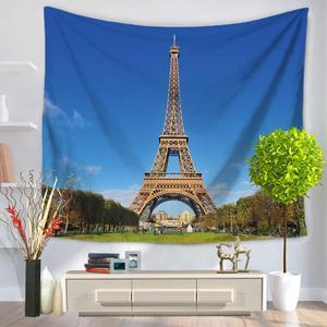 Image 4 - CAMMITEVER Taj Mahal Polyester Tarihi Doğal ABD özgürlük heykeli Asılı Goblen 150X130 cm Battaniye Yurt Yoga Mat Ev Dekor