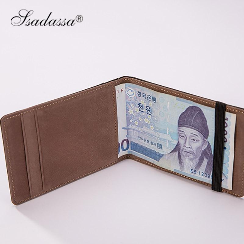 Koreanska Pengar Clip Wallet Elastic vintage plånbok mode nya 2018 - Plånböcker - Foto 4