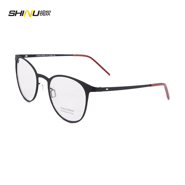 Tecnologia круглый металлический каркас очки женщин круглые очки рамки с прозрачной линзы небьющегося стекла резиновой краской 1475