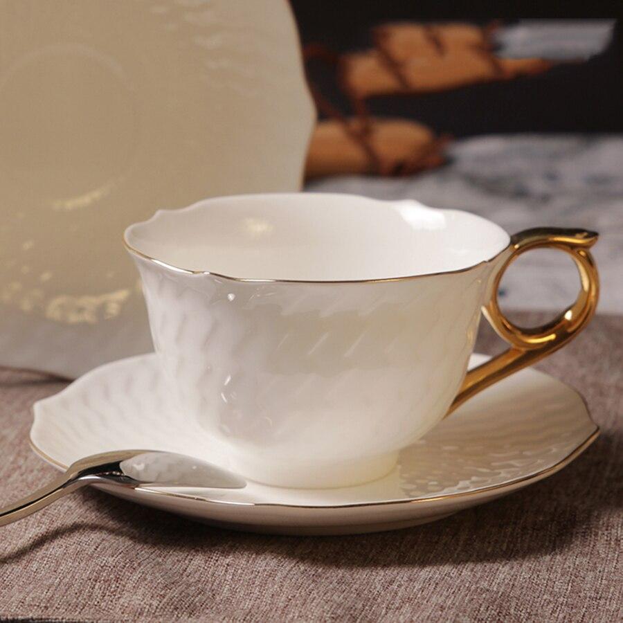 Tasses à thé et à café en porcelaine chine tasses à thé et soucoupes tasses et tasses à petit déjeuner en céramique en cuivre Vaso ma bouteille 50N5101
