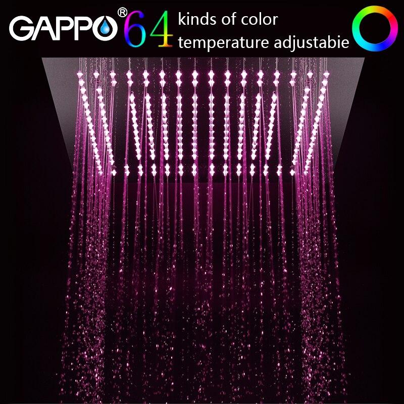Gappo robinet de douche 64 couleurs salle de bains pluie Intelligent LED cascade mural douche mitigeur robinets robinetsGappo robinet de douche 64 couleurs salle de bains pluie Intelligent LED cascade mural douche mitigeur robinets robinets