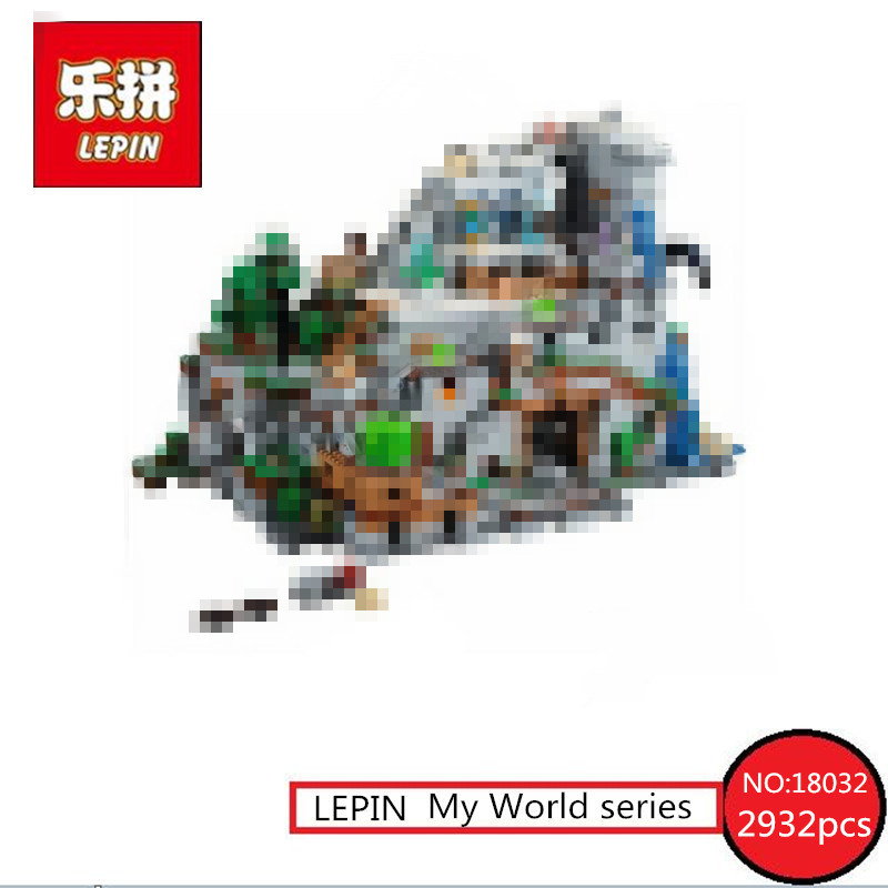 LEPIN 18032 Model Building Kit Blocks Bricks  2932pcs The Mountain Cave My worlds Compatible with 21137 dhl lepin 18032 2932 pcs the mountain cave my worlds model building kit blocks bricks children toys clone21137 in stock