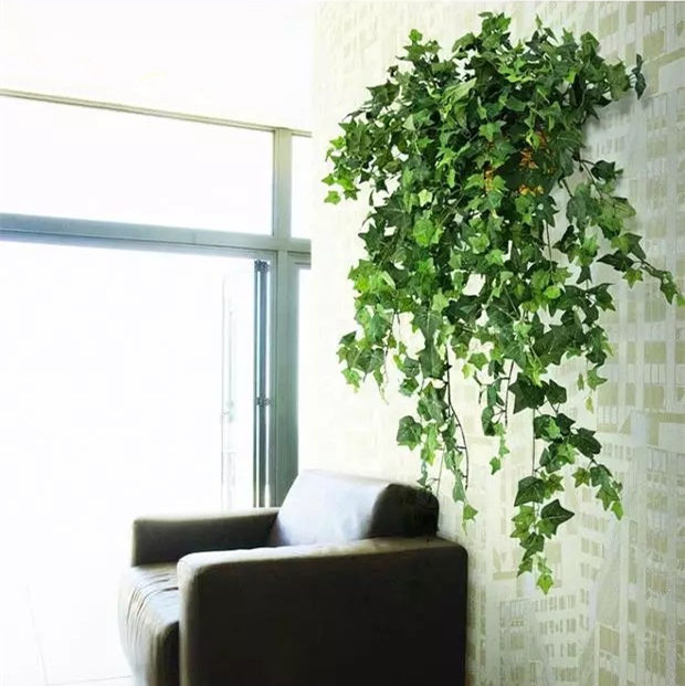 Luxury artificial boston ivy plant rattan home wedding decoration luxury artificial boston ivy plant rattan home wedding decoration wall hanging virginia creeper vine flower garland party wreath in artificial dried junglespirit Choice Image
