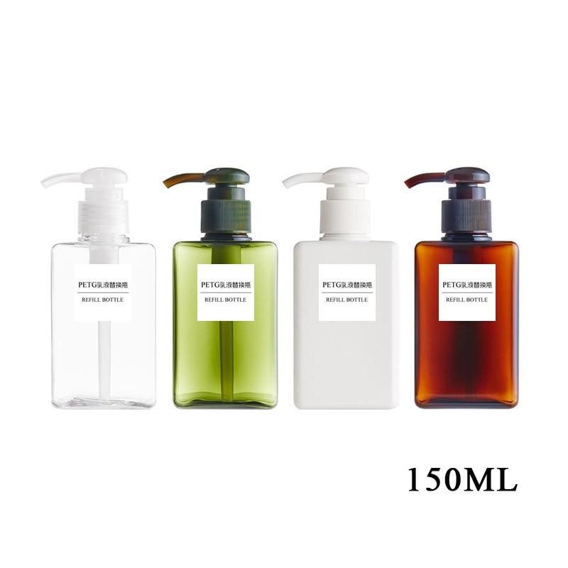 Image 3 - 4 Size Soap Dispenser Cosmetics Emulsion Bottles Bathroom Hand  Sanitizer Shampoo Body Wash Lotion Bottle Empty Travel BottlePortable  Soap Dispensers