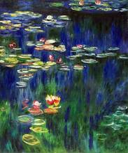 Water Lilies (Yellow and Green) by Claude Monet Handpainted