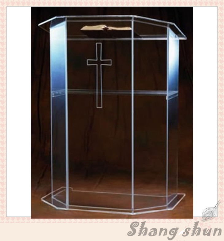 Free Shipping modern acrylic podium, acrylic pulpit, pulpit clear night bar table, podium plexiglass lectern free shipping shelf clear acrylic lucite bedside table plexiglass nightstand